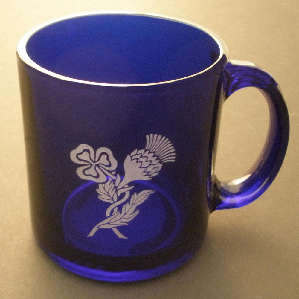 Blue Gl Coffee Mug Etched