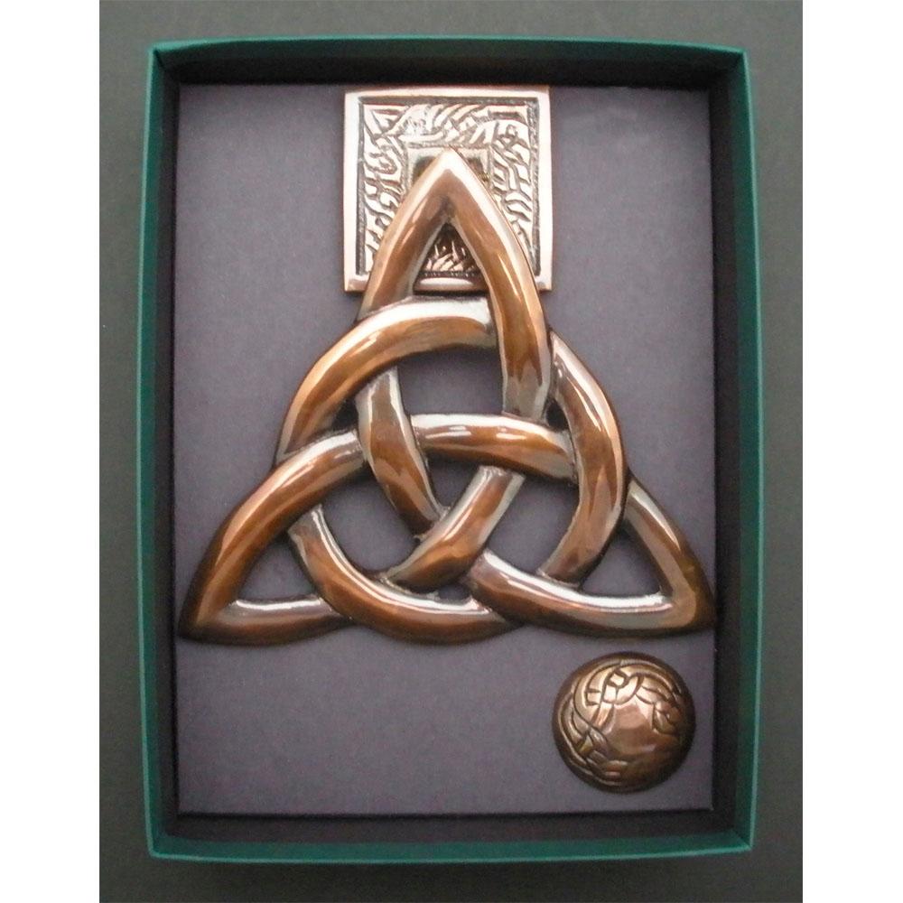 Trinity Knot Door Knocker Antique Copper The Robert