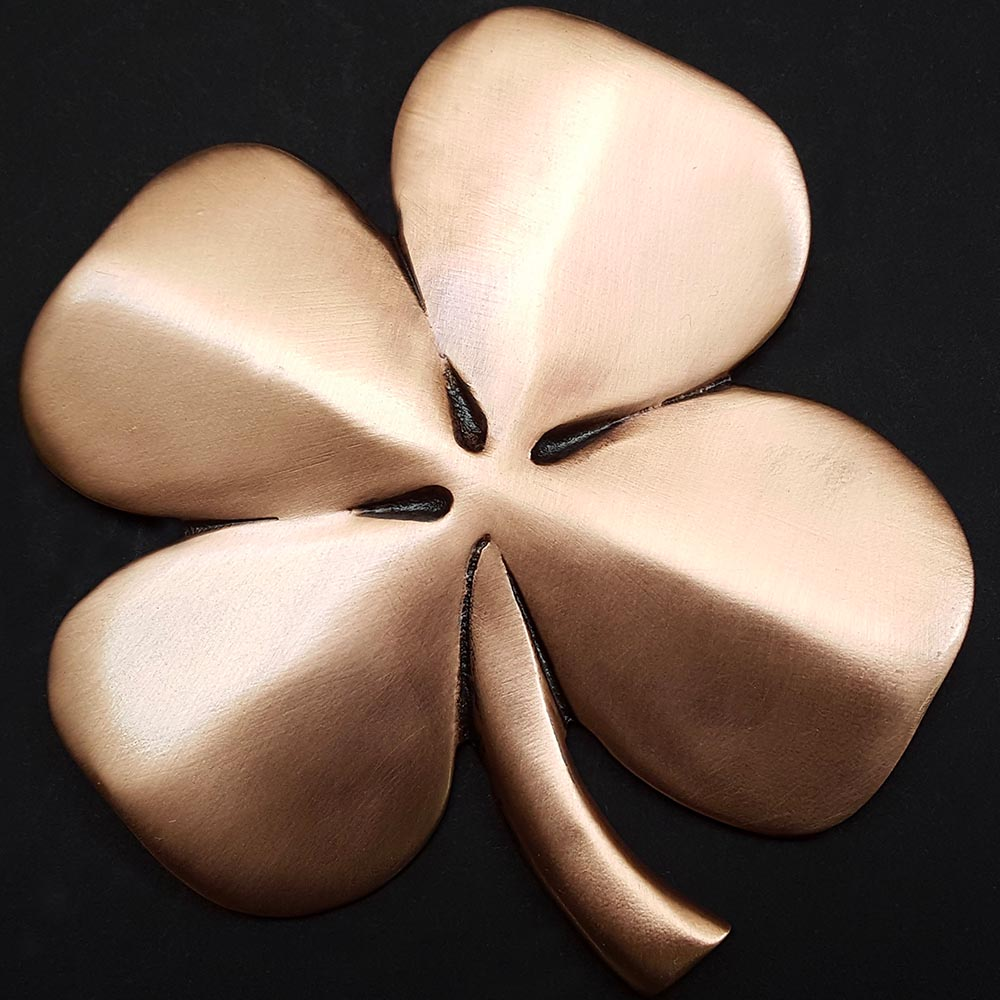 Four Leaf Clover Wall Hanging Copper Plated Pewter The